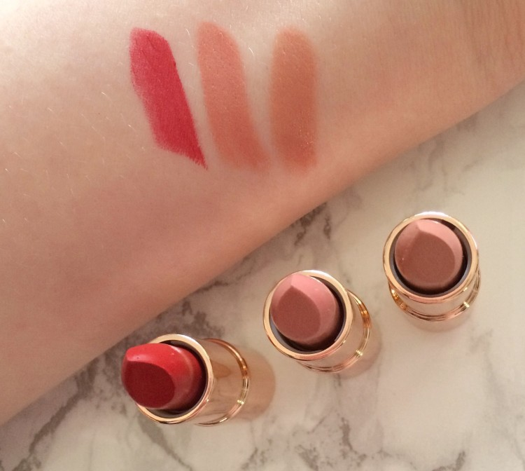 charlotte tilbury lipstick charms swatches