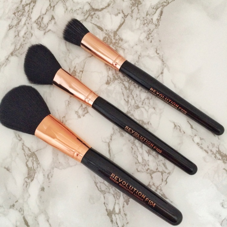 Makeup Revolution brushes