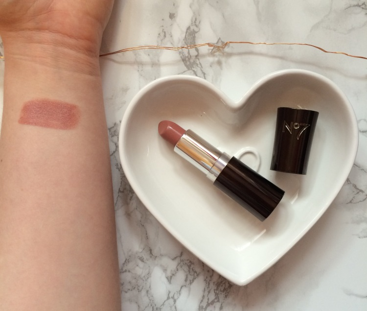 boots no7 moisture drench lipstick honeybloom swatch