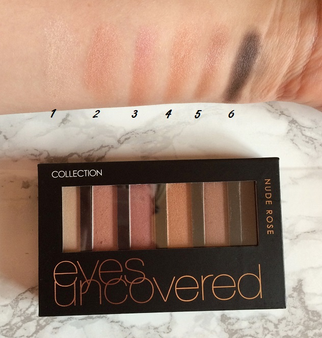 collection eyes uncovered nude rose palette colour swatches numbers