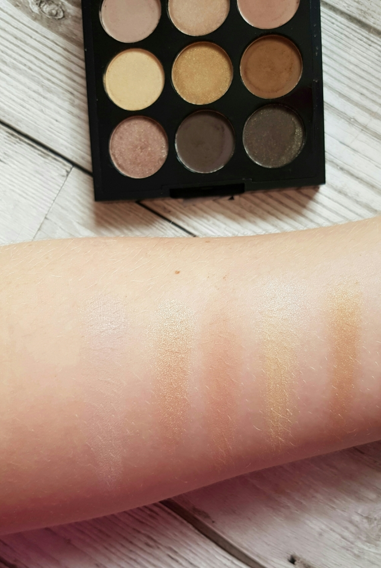 W7 naughty nines palette dupe for mac amber times nine palette swatches.jpeg