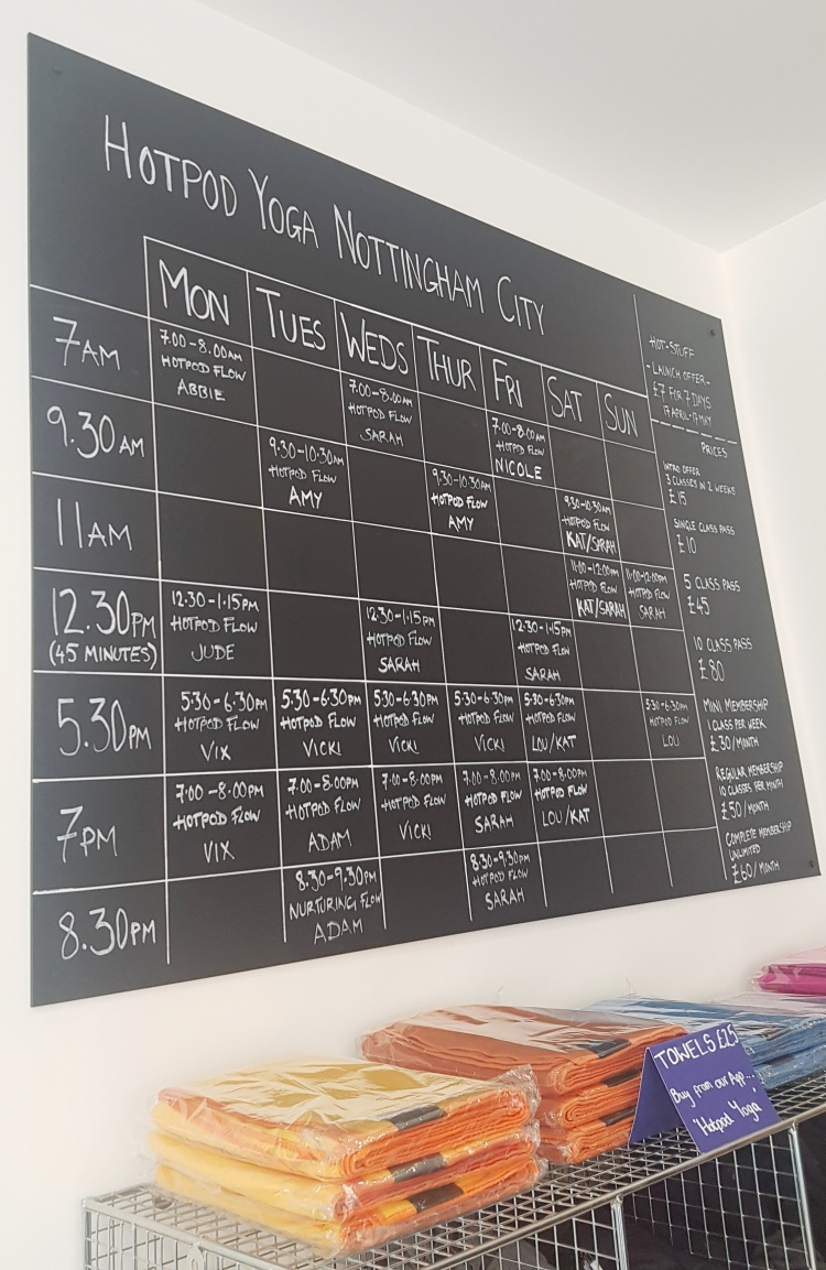 Hot pod yoga nottingham timetable