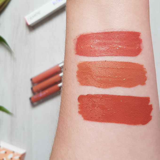 colourpop just peachy swatches
